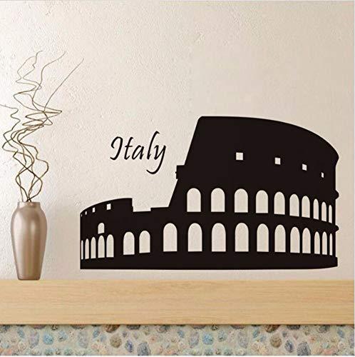 Beliebte Diy Colosseum Roman Wandaufkleber Vinyl Muster Wohnzimmer Mode Dekor 73X43Cm