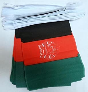 AZ FLAG Afghanistan 6 Meters Bunting Flag 20 Flags 9'' x 6'' - Afghan String Flags 15 x 21 cm