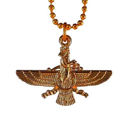 Vogel-Anhänger Zoroaster Vareghna repräsentieren Xvarnah