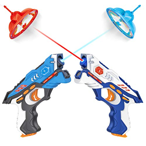 EOYIZW Laser Tag, Infrared Laser Tag Guns Set of 2 with Drones, Multi Player Backyard Laser Tag for Kids and Adults, Lazer Tag Indoor and Outdoor Games for Family