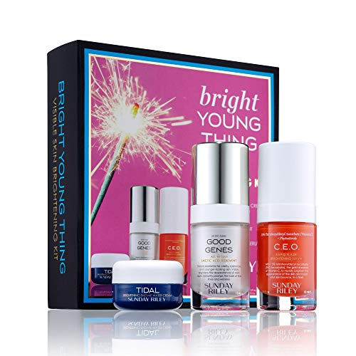 Sunday Riley Bright Young Visible Thing Skin Brightening Kit …