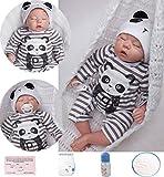antboat Reborn Babys Junge 20''/50cm Lebensechte Reborn Babypuppen Silikon Vinyl Schlafendes Baby Puppe Günstig Magnetisches Spielzeug