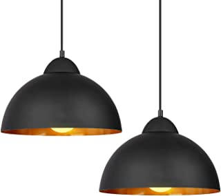 Sponsored Ad - Deckey Pendant Light with 47inch Cord,2 Pack,Φ30cm,for E27 Bulbs,Industrial Hanging Pendant Lights,Barn Pen...