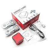 Dunmo Reproductor de consola de videojuegos, mini juegos de caja de juegos compatible con consola de videojuegos de TV con doble altavoz para el hogar, 1500 integrado