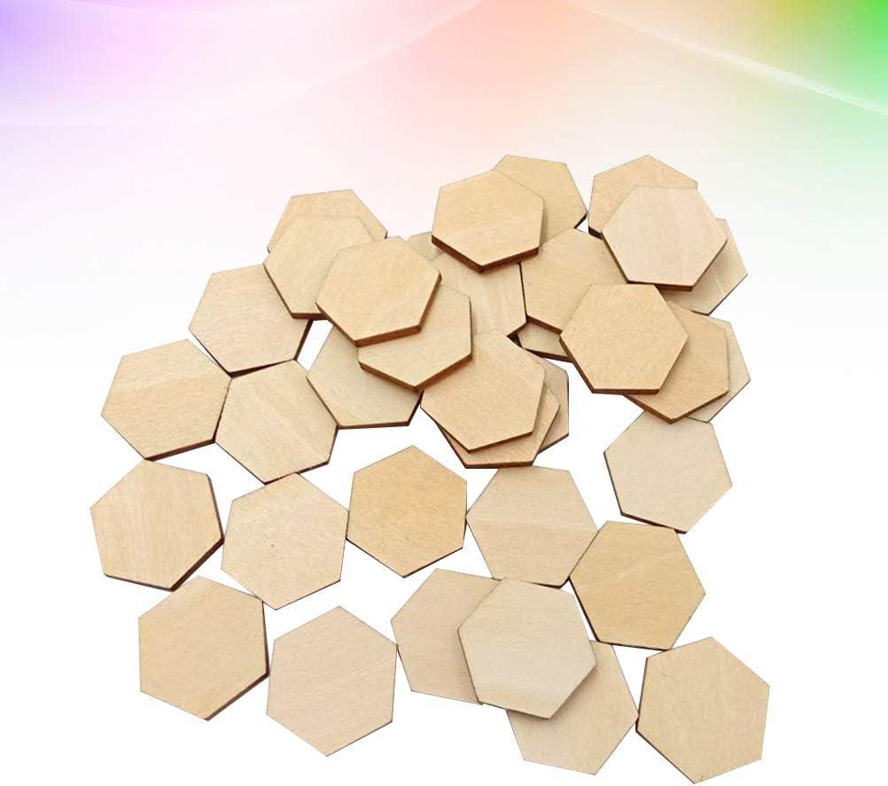 100 piezas de rodajas de madera hexagonales para troncos y troncos 20 mm as shown Heally