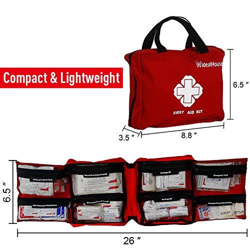 *Erste Hilfe Set 148 -teilig Erste Hilfe Koffer, Erste Hilfe Kasten, Erste Hilfe Tasche für Haus, Auto, Camping, Jagd, Reisen, Natur und Sport (Reißverschluss)*