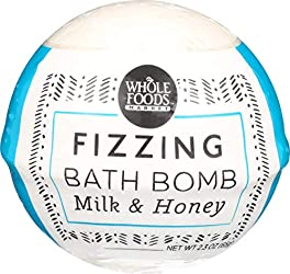 Whole Foods Market, Fizzing Bath Bomb, Milk & Honey, 2.3 oz