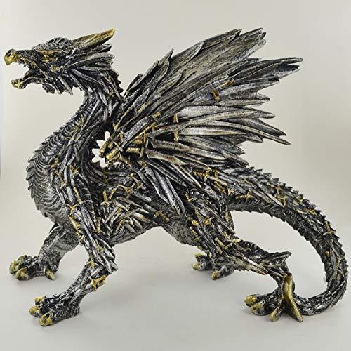 Prezents.com Zwaard Draak Sculptuur Ongelooflijk Gedetailleerd Altaar Ornament voor Fantasie & Magic Fans