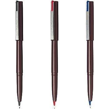 ぺんてる プラスチック万年筆 プラマン 3色セット JM20ST-AMZ 黒・赤・青