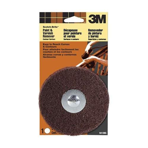 3M 9413NA Scotch-Brite Paint & Varnish Remover Disc Contour Surface