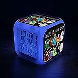 Among Us Games1 Despertador Niños - Despertador Digital Led Fácil de Configurar Relojes de Cubo Luz Nocturna Gran Pantalla Reloj de Dormitorio Adulto Chico Chica Regalos