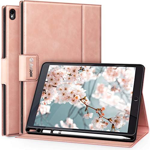 Antbox Funda para iPad Air 3 10.5 Pulgadas/iPad Pro 10.5 con Soporte de lápiz Apple Incorporado, Cuero de PU de Alto Grado, función de Auto Dormir/Despertar
