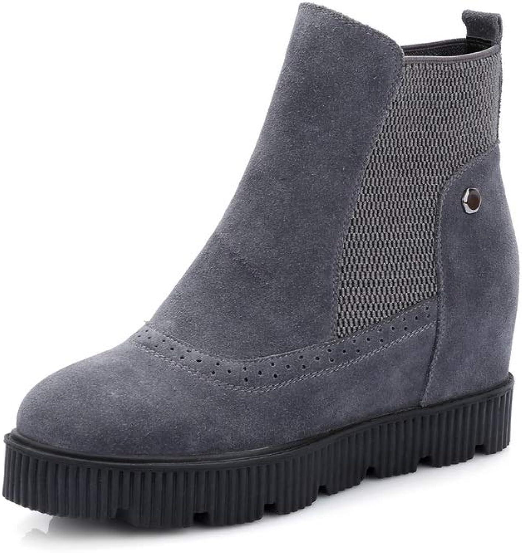 AdeeSu Womens Fabric Solid Platform Urethane Boots SXE04334