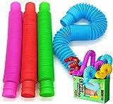 BunMo Pop Tubes Sensory Toys, Fine Motor Skills Toddler Toys, Fidget Toys for Sensory Kids and Learning Toys
