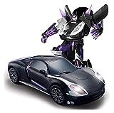 Nixi888 01:14 - Escalera educativa de transformación de Robot Action Figuras de Voice Controlado con un solo botón de deformación y 360 ° de rotación Driftingfor niños jóvenes Deformación Car