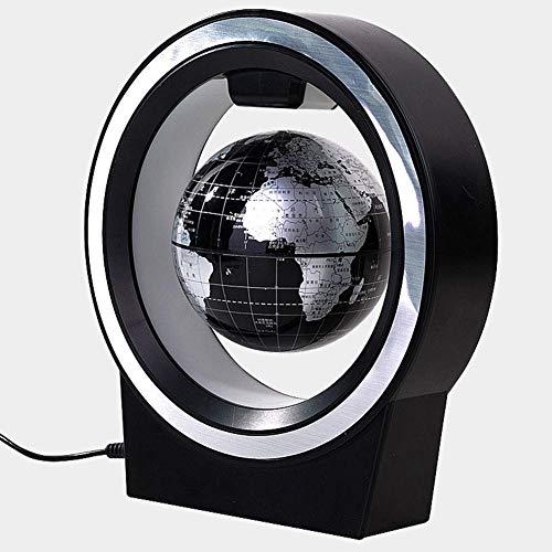 Ayanx Schwebender Globus, schwebender Globus in O-Form mit LED-Lichtern Magnetfeldschwebung Weltkarte Globus Schwerkraft Innenministerium Schreibtischdekoration (Modell: 2224)
