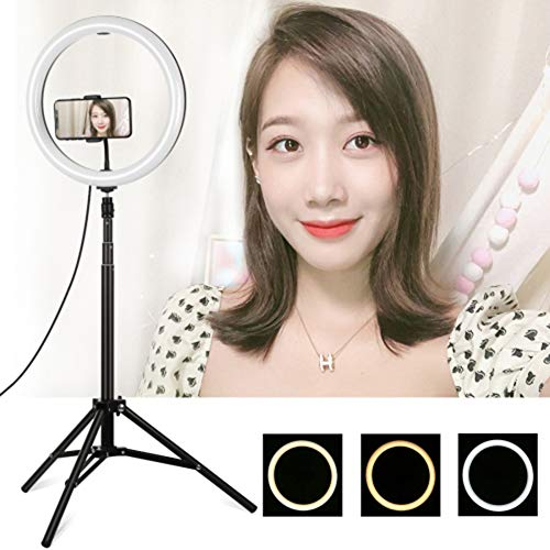 Ringlicht 11,8 inch / 30 cm Dimbare helderheid Tweekleurig 3200-6500K LED-ringlicht met standaard en zachte buis, draagtas voor camera, YouTube, vlog, make-up, portretfotografie