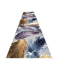ZEMIN 廊下敷きカーペット ラグ じゅうた 防汚 長いです カーペット 洗える エリアマット キッチン、 マルチサイズ カスタマイズ可能 (Color : R, Size : 1x6m)