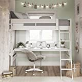 Dorel Living Harlan Loft Bed, White