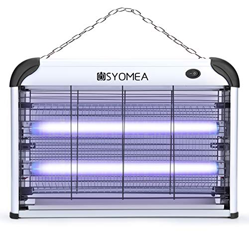 Bug Zapper, Electric Mosquito Zapper, Fly Trap for Mosquito , Fly , Moth , Wasp , Beetle & Other Pests, Indoor Insect Killer with 20W Mosquito Light Bulb for Indoor Residential & Commercial