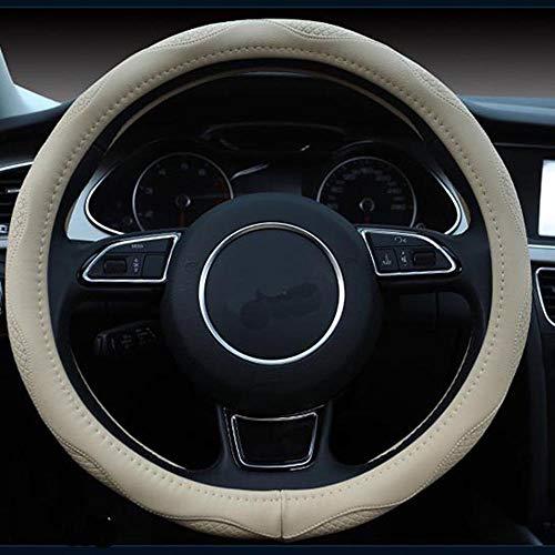 Istn Unisex 2018 Sport Stil Kontrast Farbe rutschfeste Schweiß gute atmungsaktive PU Kunstleder 15 Zoll Auto Lenkradabdeckung schwarz rot