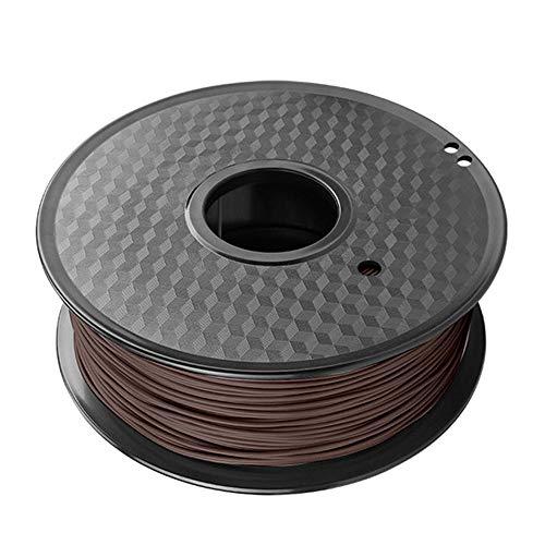 PLA Wood Filament 1.75mm, 3D Printer 1kg (2.2lb), PLA+Natural Wood Powder-Red sandalwood