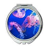 Mirror,makeup mirror,animals aquarium jellyfish,pocket mirror,portable mirror