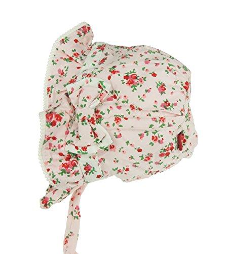 Glamour Girlz Chapeau de soleil pour bébé fille en coton doux Motif floral Rose 3-12 mois