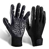 Pet Grooming Glove Gentle Deshedding Brush Glove Efficient Pet Hair Remover Mitt Massage