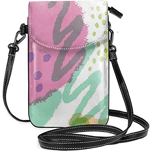 Interieur shop mobiele telefoon portemonnee WalletWomen 's kleine aquarel vlekken patroon schoudertas handtas