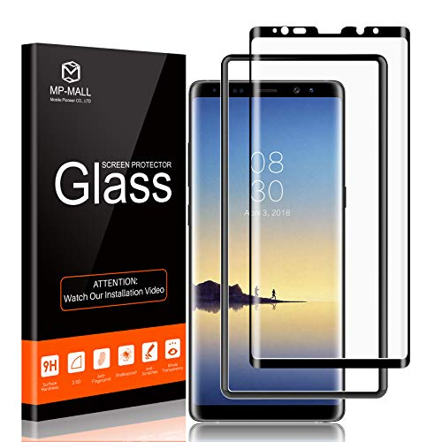 MP-MALL Screen Protector Compatible for Samsung Galaxy Note 8, Tempered Glass Full Cover Alignment Frame Easy Installation