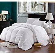 Royal Hotel Goose-Down Comforter, 500-Thread-Count, 100% Cotton Shell, 750FP - 48-56 Ounce, Full/Queen, King/California-King
