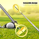 MAGT Golf Ball Retriever, 2 Colors Practical Golf Picker Telescopic Lightweight Golf Ball Pick-up Scoop with Automatic Locking Device