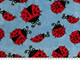 ab 1m: Superflausch, Käfer, hellblau-rot, 150cm breit