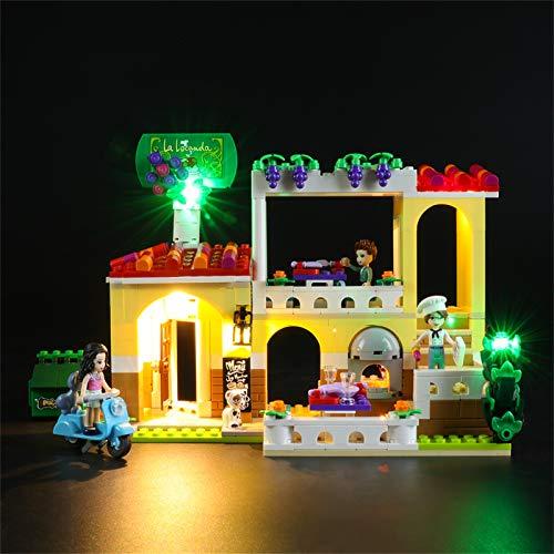 BRIKSMAX Kit de Iluminación Led para Lego Friends Restaurante de Heartlake City,Compatible con Ladrillos de Construcción Lego Modelo 41379, Juego de Legos no Incluido