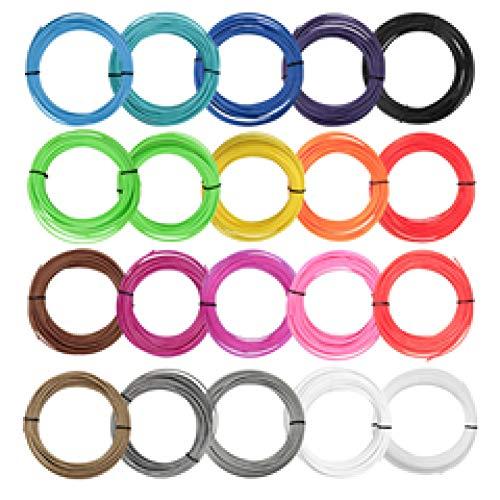 Filament D'Imprimante 3D 10 Mètres 10 Couleurs / 20 Couleurs Matériaux De Filament Pla 1,75 Mm Pour L'Impression 3D Filetage De Stylo Consommables En Plastique Consommables Cadeaux De Bricolage