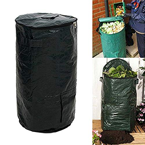 Review Collapsible Compost Bin with Zipper Composting Fruit Kitchen Waste Fermentation Secrets Growe...