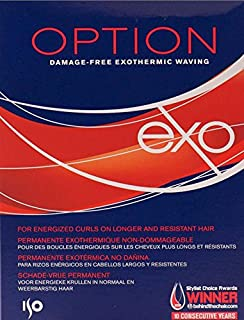 ISO Option Perm Lotion option EXO is a damage-free Exothermic Perming for energized curls on longer and resistant hair