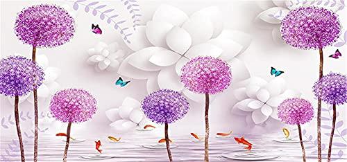 5D DIY Diamond Painting Flower Rose Por Número Kit,Pintura Diamantes Talla Grande, Completo Mano Lienzo Cristal Bordado Punto De Cruz Artesanía Decor De Paredes Del Hogar 40x120cm