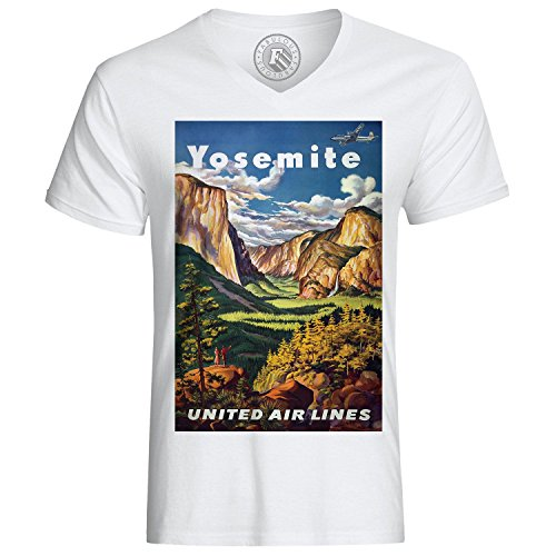Fabulous T-Shirt Yosemite United Air Lines Vintage Plane Travel