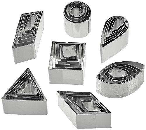 Städter 020016 - Set da 42 stampini in Acciaio Inox, con Contenitore, 8,5 x 5,3 x 2,2 cm