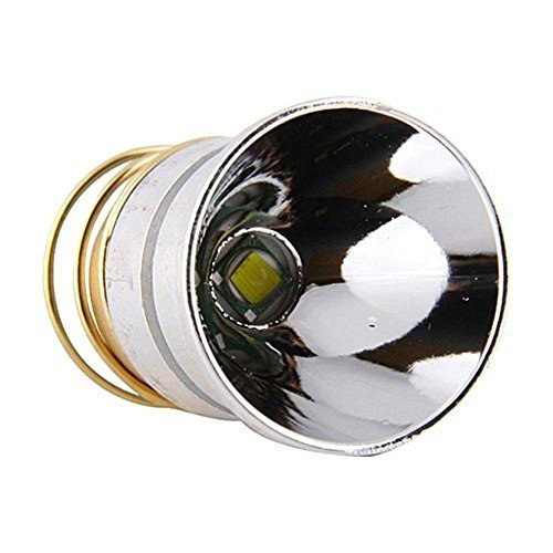 Flashlight Bulb LED 1000 Lumens Smooth Reflector T6 Single Mode 3.0-18V Flashlight Replacement LED Bulbs for Surefire Hugsby C2 Z2 6P 9P G3 S3 D2, WF501B WF502B