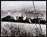 1art1 New York Poster Kunstdruck und Kunststoff-Rahmen -