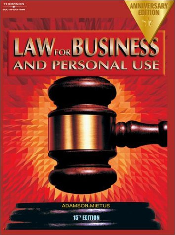 Law for Business and Personal Use, Anniversary Edition