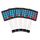 HiLetgo 5pcs 16 Keys 4x4 Matrix Array Membrane Keypad Keyboard AVR 12V for Arduino Robort Parts Raspberry Pi