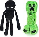 Creeper Plush Toys and Enderman Plush Toys ,Creeper and Enderman Game Plush Stuffed Black Toys for Gift