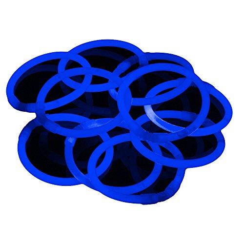 Glowhouse Paquete de 100 pulseras que brillan en la oscuridad, Prémium, Colores individuales