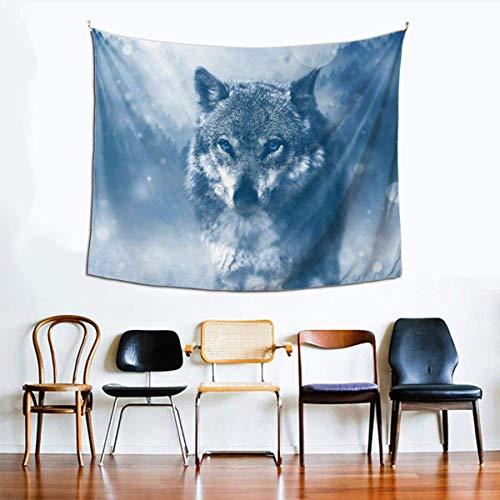 Tapiz Hippie, tapices de Lobo para Dormitorio, Sala de Estar, Dormitorio, Tapiz psicodélico para Colgar en la Pared, Decorativo étnico