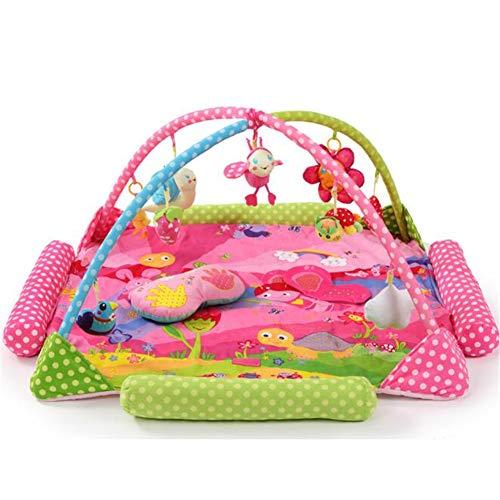Tapis de Jeu et Salle de Sport pour bébés, Jouet de Support pour bébé Animal Paradise,Pink