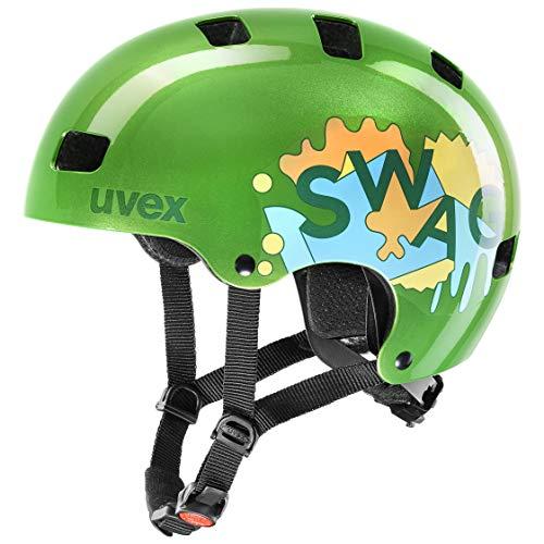 Uvex Unisex Jugend, kid 3 Fahrradhelm, green, 55-58 cm